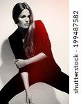 high fashion look.glamor... | Shutterstock . vector #199487582