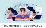children gadget addiction... | Shutterstock .eps vector #1994891522