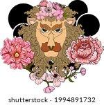 leo and flower of astrology...   Shutterstock .eps vector #1994891732
