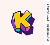 letter k logo in cubic children ... | Shutterstock .eps vector #1994902595