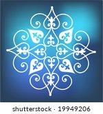 stylized snowflake flower over...   Shutterstock .eps vector #19949206