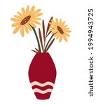 vase with sunflowers. bunch of... | Shutterstock .eps vector #1994943725