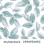 modern pattern with leaves on...   Shutterstock .eps vector #1994954492