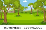 empty nature park scene with...   Shutterstock .eps vector #1994962022