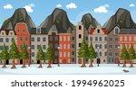 winter season scene with many...   Shutterstock .eps vector #1994962025