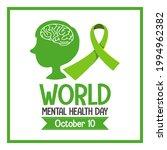 world mental health day banner...   Shutterstock .eps vector #1994962382