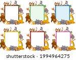 set of blank banner in...   Shutterstock .eps vector #1994964275