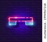 step platform for fitness neon...   Shutterstock .eps vector #1994967218