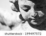 stone angel portrait    Shutterstock . vector #199497572