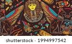 ancient egypt. egyptian art....   Shutterstock .eps vector #1994997542