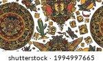 mexican mesoamerican culture.... | Shutterstock .eps vector #1994997665