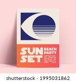 summer sunset beach party... | Shutterstock .eps vector #1995031862