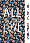 a fun card to celebrate love... | Shutterstock .eps vector #1995048188