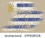 uruguay grunge flag | Shutterstock .eps vector #199508528