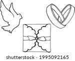 wedding set for design. hand... | Shutterstock .eps vector #1995092165