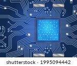 computer processor technology.... | Shutterstock .eps vector #1995094442