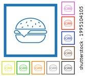 single cheeseburger flat color... | Shutterstock .eps vector #1995104105