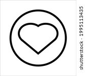 heart illustration. vector icon.... | Shutterstock .eps vector #1995113435