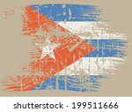 cuba grunge flag   Shutterstock .eps vector #199511666