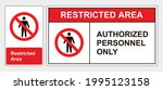 restricted area authorized...   Shutterstock .eps vector #1995123158