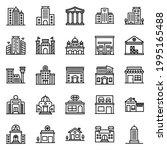 building icon set  2    vector...   Shutterstock .eps vector #1995165488