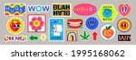 set of various patches  pins ... | Shutterstock .eps vector #1995168062