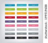vector web buttons with... | Shutterstock .eps vector #199519688