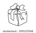 abstract present box as... | Shutterstock .eps vector #1995219548