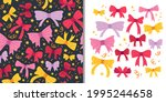 beautiful holiday bows set with ... | Shutterstock .eps vector #1995244658