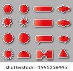vector set of red stickers... | Shutterstock .eps vector #1995256445