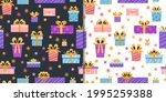 party presents set with... | Shutterstock .eps vector #1995259388