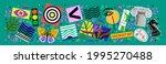 art abstract posters. vector...   Shutterstock .eps vector #1995270488