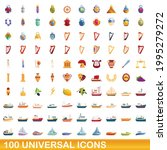 100 universal icons set.... | Shutterstock .eps vector #1995279272