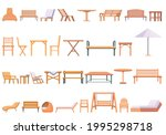 outdoor furniture icons set.... | Shutterstock .eps vector #1995298718