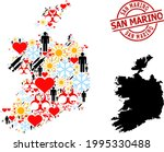 scratched san marino stamp seal ... | Shutterstock .eps vector #1995330488
