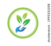 creative hand and leaf logo... | Shutterstock .eps vector #1995331058