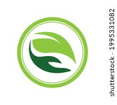 creative hand and leaf logo... | Shutterstock .eps vector #1995331082
