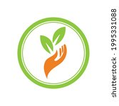 creative hand and leaf logo... | Shutterstock .eps vector #1995331088