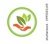 creative hand and leaf logo... | Shutterstock .eps vector #1995331145