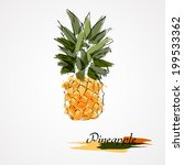 Hand Drawn Pineapple Ripe...