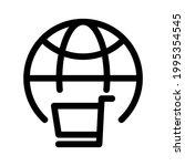 global market icon or logo...   Shutterstock .eps vector #1995354545