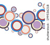 abstract colorful circles... | Shutterstock .eps vector #199536218
