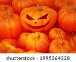 Halloween Background. Pumpkin...