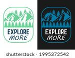 happy camper explore more and... | Shutterstock .eps vector #1995372542