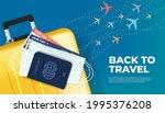 prepare your luggage  passport  ... | Shutterstock .eps vector #1995376208