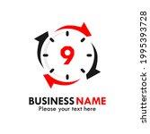 number 9 rotation logo template ...   Shutterstock .eps vector #1995393728