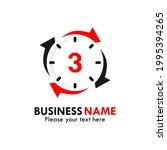 number 3 rotation logo template ...   Shutterstock .eps vector #1995394265