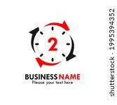 number 2 rotation logo template ...   Shutterstock .eps vector #1995394352