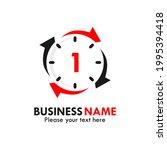 number 1 rotation logo template ...   Shutterstock .eps vector #1995394418