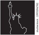 Liberty Statue  Icon Vector...